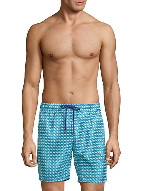 Hexagon Weave Swim Shorts