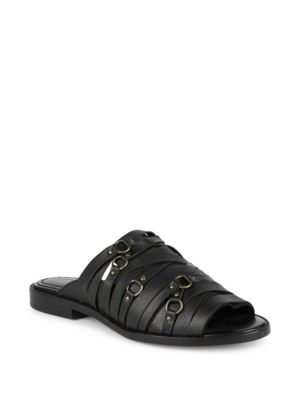 KELSI DAGGER BROOKLYN Kelsi Dagger Slope Leather Sandal in Black