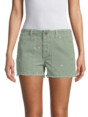 Amo Floral Canvas Shorts