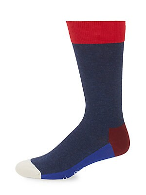 Colorblock Crew Socks