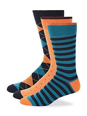 Three-Pack Mid-Calf Socks