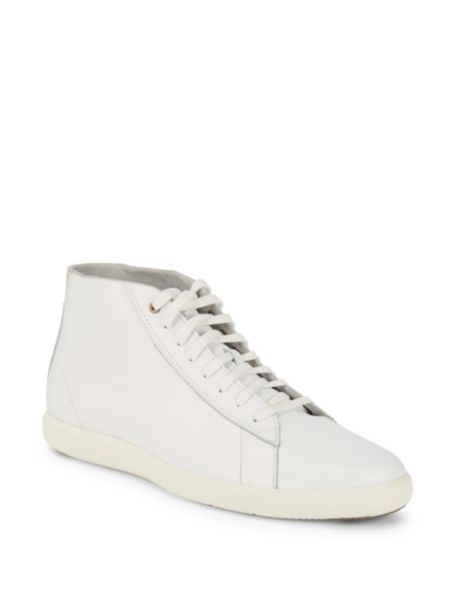 Grandpro Leather Hi Top Sneakers by Cole Haan