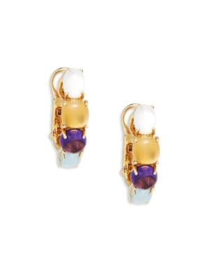 Roberto Coin Stacked Gemstone Yellow Gold Earrings