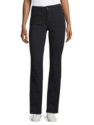 NOT YOUR DAUGHTER'S JEANS Hayley Straight-Leg Jeans in Black