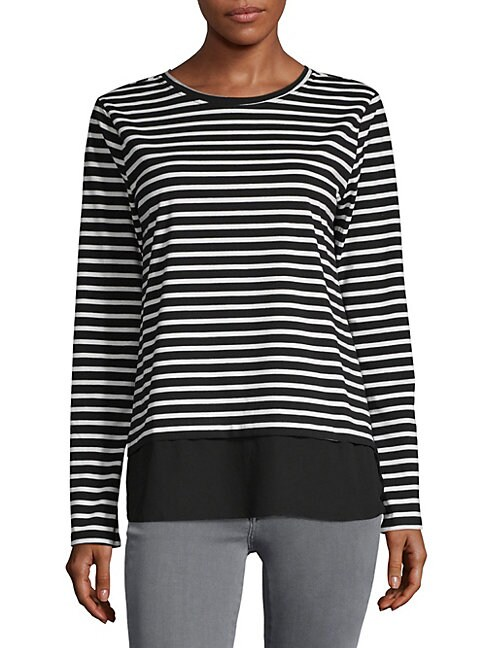 ALEXANDER JORDAN | Stripe Long-Sleeve Top | Goxip