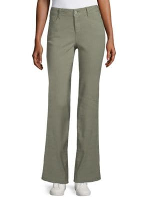 NOT YOUR DAUGHTER'S JEANS Wylie Stretch-Linen Trouser Jeans in Sergeant