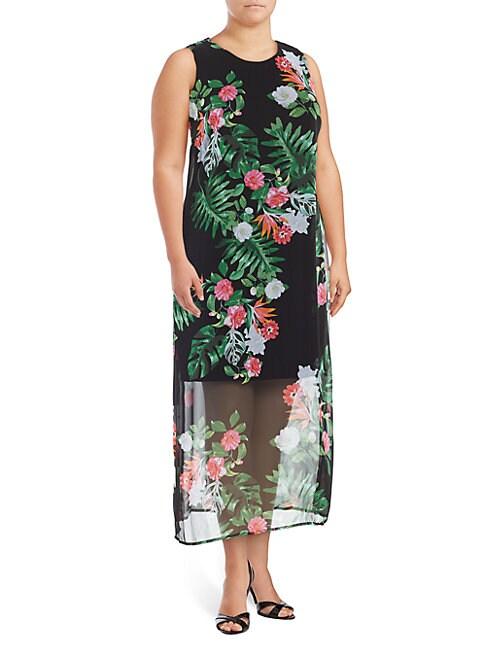 Havana Tropical Sleeveless Dress