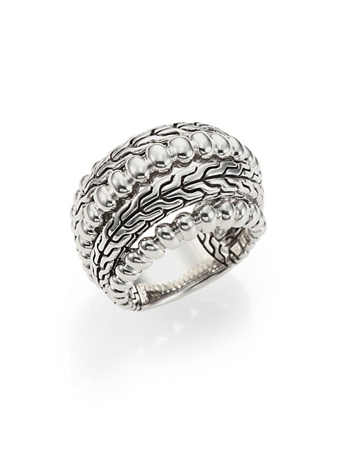 BEDEG STERLING SILVER DOME RING