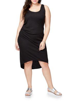 Rachel Roy Plus Michele Heathered Racerback Hi-Lo Dress