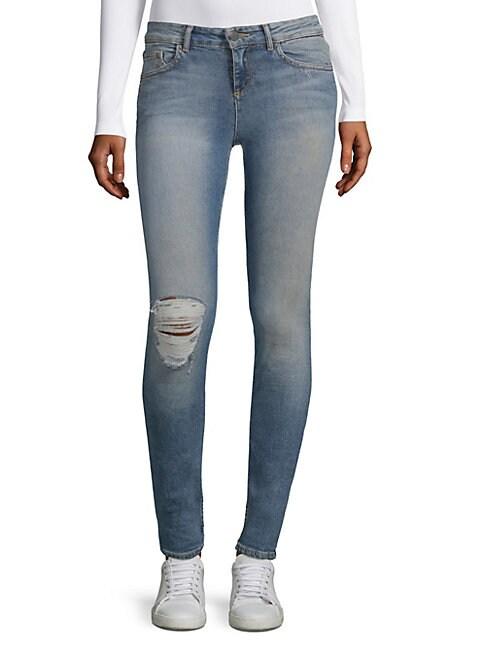 Jane Distressed Skinny Jeans