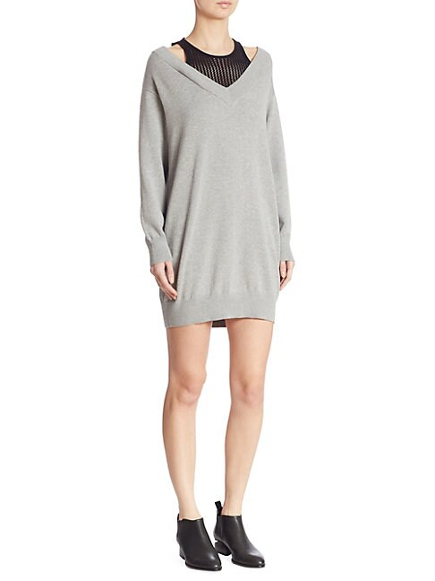 Heathered Sweater Dress