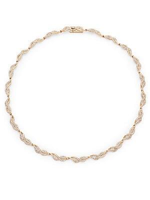 Adriana Orsini Helix Crystal Collar Necklace