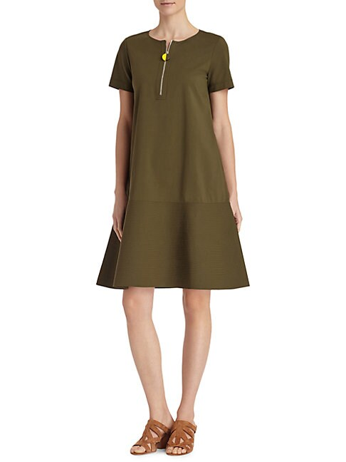 LAFAYETTE 148 NEW YORK | Vinita Solid Flared Dress | Goxip