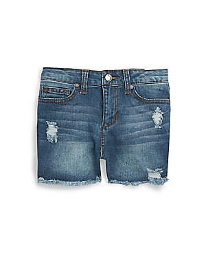 HighRise Distressed Denim Shorts