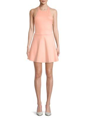 Lpa Backless Halter Fit-&-Flare Dress