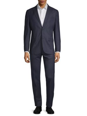 J. LINDEBERG Hopper Stretch Wool Suit Jacket in Midnight