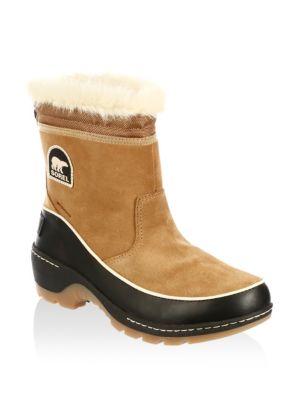 Sorel Tivoli III Suede Faux Fur Boots