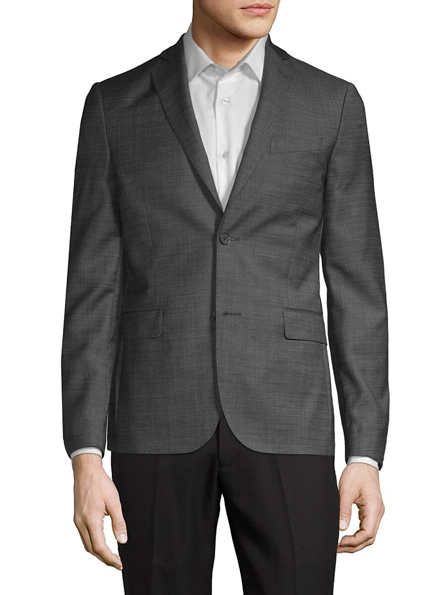 Men's Tailored Wool Blazer