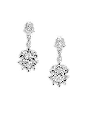 Faceted Teardrop Crystal Earrings