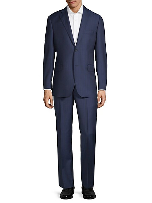 Multistripe Wool Suit