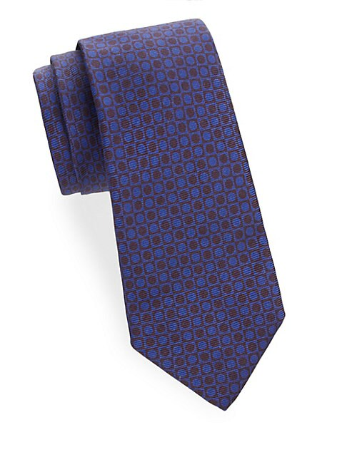 Circular Patterned Silk Tie