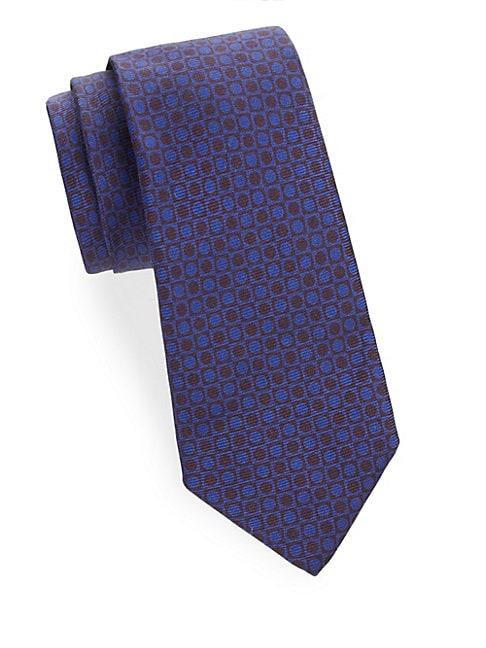 Circular Patterned Silk Tie