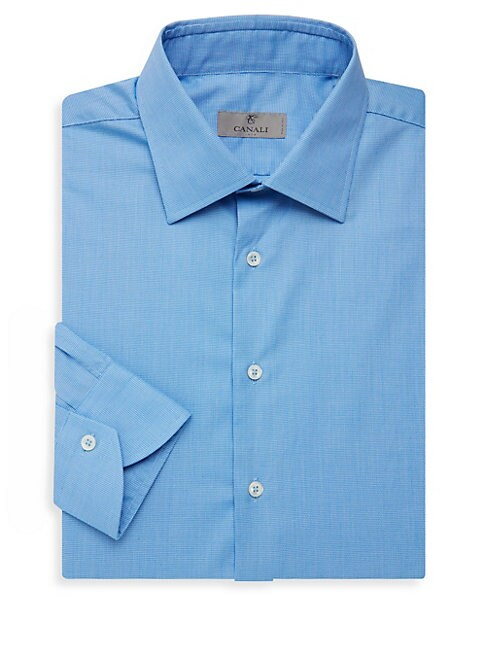 Textured Cotton Dress Shirt
