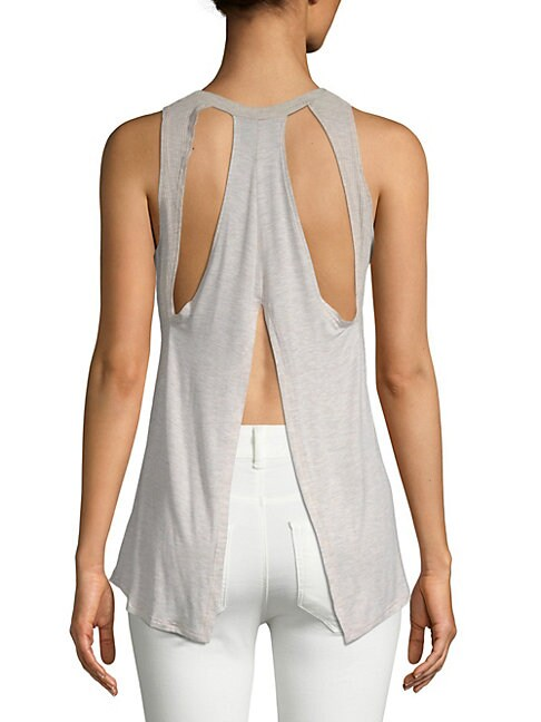 BODY LANGUAGE | Renee Back Cut-Out Tank Top | Goxip