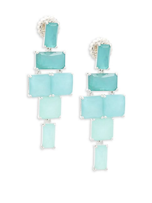 925 Wonderland Long Linear Drop Earrings