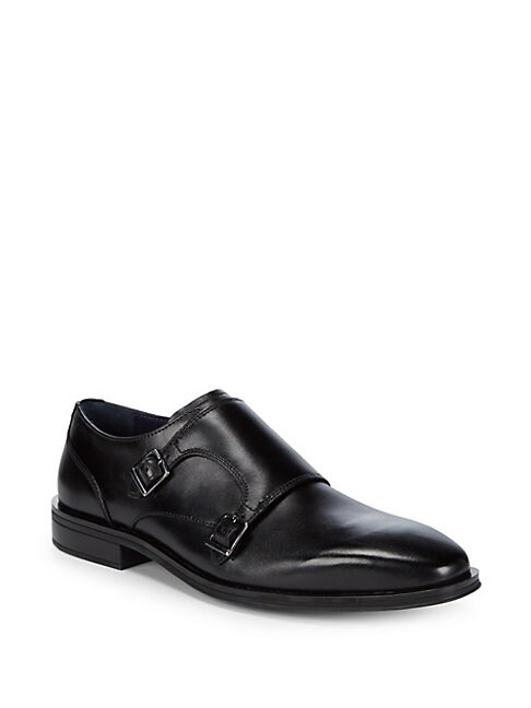 COLE HAAN | Dawes Leather Double Monk-Strap Shoes | Goxip