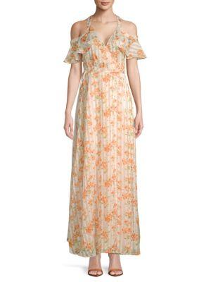 PRIVACY PLEASE Acme Floral Maxi Dress in Orange
