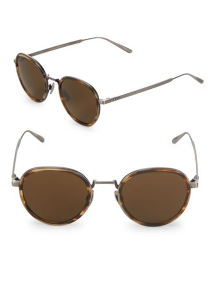 49 Mm Round Sunglasses by Bottega Veneta