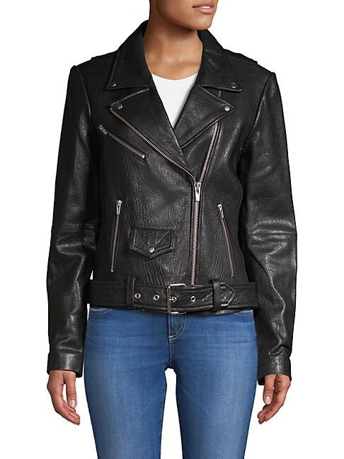 Veda JAYNE CLASSIC BELTED LEATHER JACKET