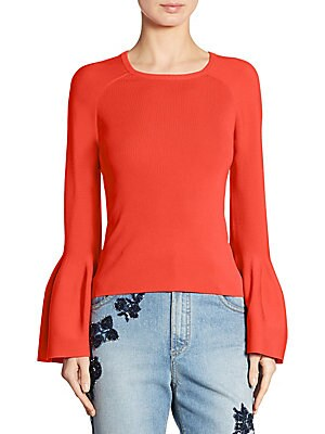 Signature Bell Sleeve Knit Sweater