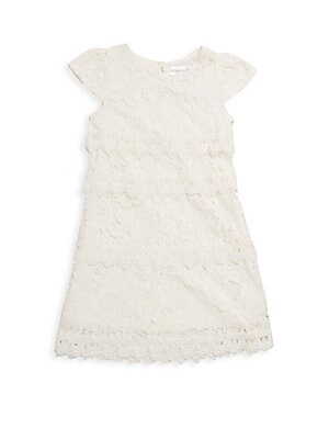 Little Girl's Tiered Lace Shift Dress