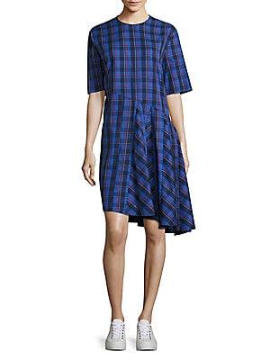 Rima Abia Plaid Cotton Dress