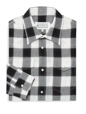 MAISON MARGIELA Cottons LUMBERJACK CHECKERED DRESS SHIRT