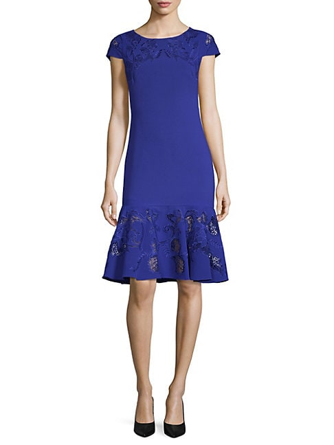Ruffled Hem Sheath Dress