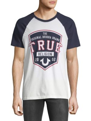 True Religion Pop Fly Raglan-Sleeve Cotton Tee