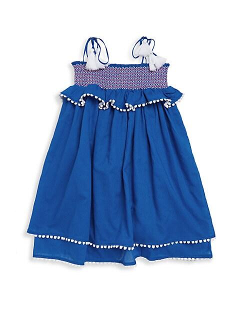 Little Girl's & Girl's Voile Smocked Cotton Dress