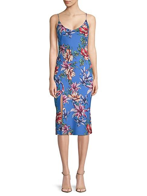 Aloma Floral Print Midi Dress