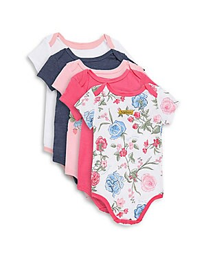 Baby's Five-Pack Floral Bodysuit