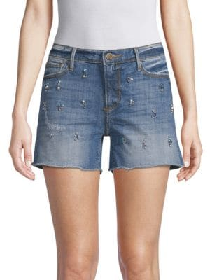 Driftwood Connie Embellished Denim Shorts