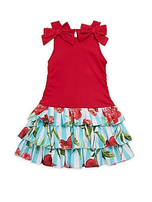 Little Girl's & Girl's Nina Ruffled Cotton Dress