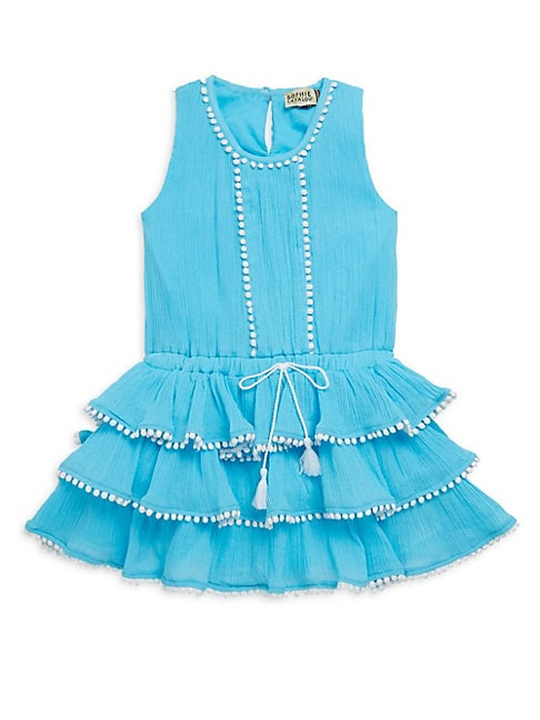Little Girl's & Girl's Ruffled Cotton Dress
