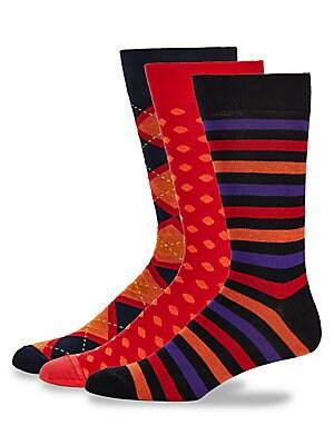Three-Pack Fashion Crew Socks