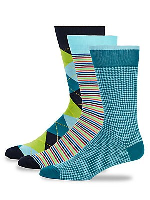 Three-Pack Fashion Crew Socks