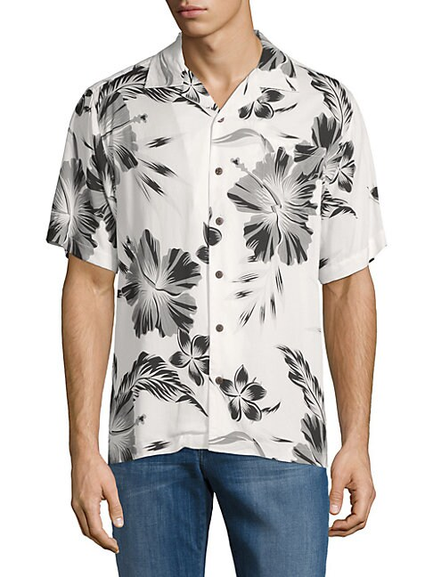 Printed Camp Button-Down Shirt