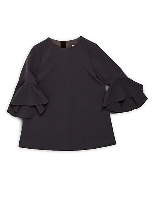 GIRL'S CADY NICOLA BELL-SLEEVE DRESS