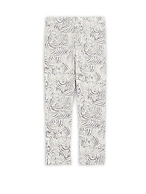 Little Girl's & Girl's Zebra-Print Leggings